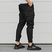 Зауженные карго штаны черные мужские от бренда ТУР Симбиот (Symbiote) размер S, M, L, XL, XXL, фото 1