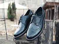 Туфли броги мужские черные кожаные Оникс (Onyx) от бренда Legessy
