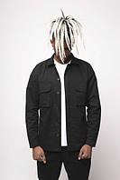 Куртка-рубашка черная мужская Фьюри (Fury) от бренда ТУР размер S, M, L, XL, XXL, фото 1