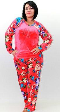 Женская махровая теплая пижама ― красивая и уютная женская домашняя одежда  для дома. Опт, 06be895ce56