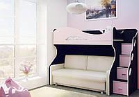 Двухъярусная кровать с местом под диван ДЮМ 1658
