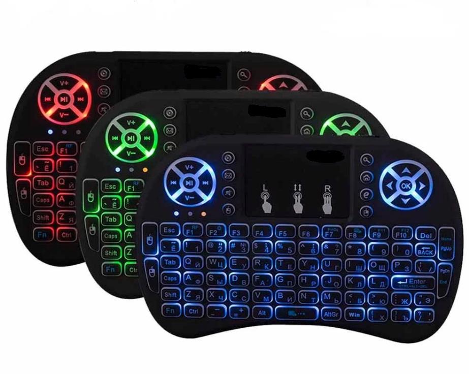 Акція Бездротова міні-клавіатура і8 з підсвічуванням