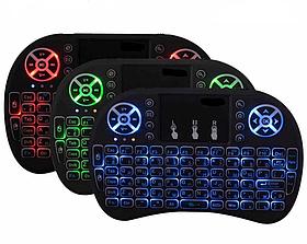 Акция Беспроводная мини-клавиатура і8 с подсветкой