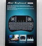 Акция Беспроводная мини-клавиатура і8 с подсветкой, фото 3