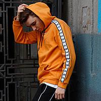 Худи легкое мужское Адидас (Adidas) оранжевый весна лето (весеннее), фото 1