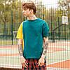Футболка мужская двухцветная  зеленая с горчичным Дабл (Double) бренд Тур  размер XS, S, M, L, XL