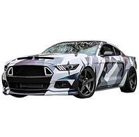 Камуфляж на авто Astart3d Ford GBM 5670х980х0.075мм