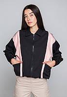 Ветровка черная женская бренд ТУР модель Харли Квин (Harley Quin) размер S,M,L,XL