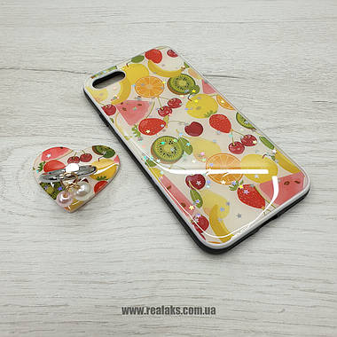 Чехолы Fruits с кольцом Apple Iphone 7 Plus / 8 Plus, фото 3