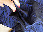 Ткань креш органза для цветоделанья синий глубокий 8 лоскутов набор 35 см*18 см, фото 3