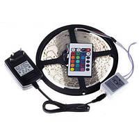 Лента светодиодная LED 3528 RGB 5м 300 LED с пультом и блоком питания
