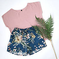 Женская пижама с шортами из штапеля, фото 1