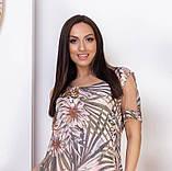 Ошатне літнє плаття з відкритими плечима з натуральної тканини на підкладці великих розмірів 50,52,54,56, фото 4