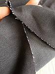 Джинс чёрный стрейч мерный лоскут 90см*40см, фото 2