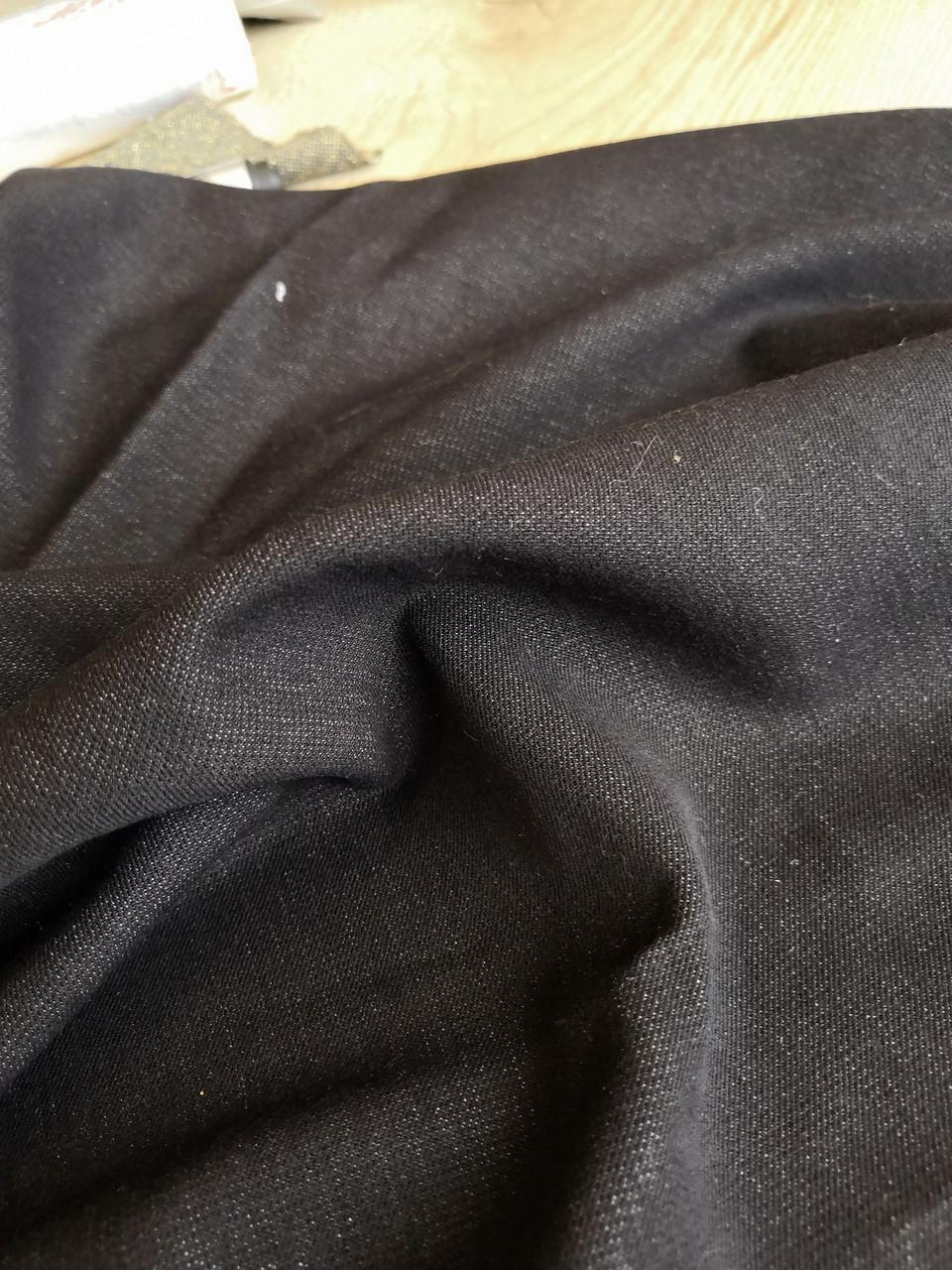 Джинс чёрный стрейч мерный лоскут 90см*40см