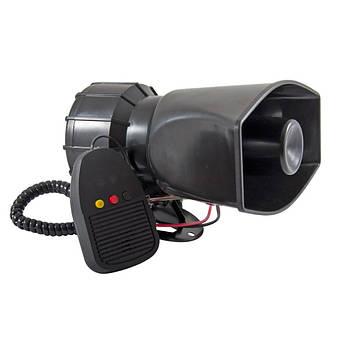 Автомобільна СГУ сирена з мікрофоном 3-тональна 40w Сонар SAZ-55