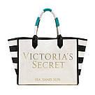 Сумка Пляжная Victoria's Secret Striped Canvas Tote, фото 2