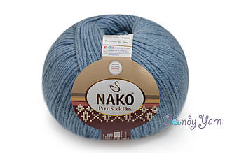 Nako Pure Sock Plus, Серо-голубой №1986