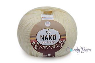 Nako Pure Sock Plus, Молочный №2378