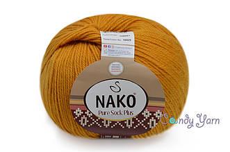 Nako Pure Sock Plus, Горчица №10429