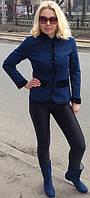 Куртка джисовая на синтепоне с отделкой в стиле Матрешка