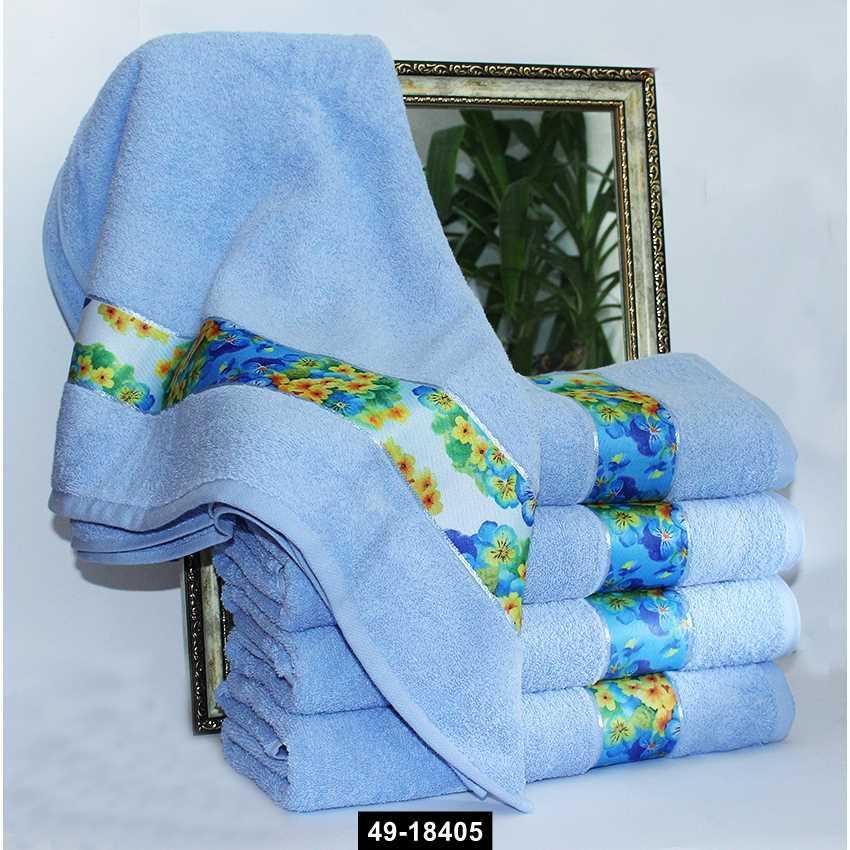 Полотенце махровое Весна голубое 70х140, 49-18405