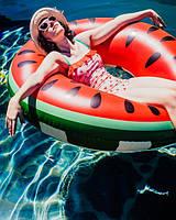 Надувной круг для плавания Арбуз 70 см