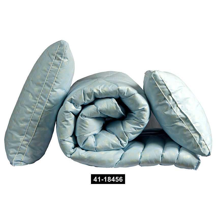 "Одеяло лебяжий пух ""Голубое"" 1.5-сп. + 2 подушки 70х70, 41-18456"