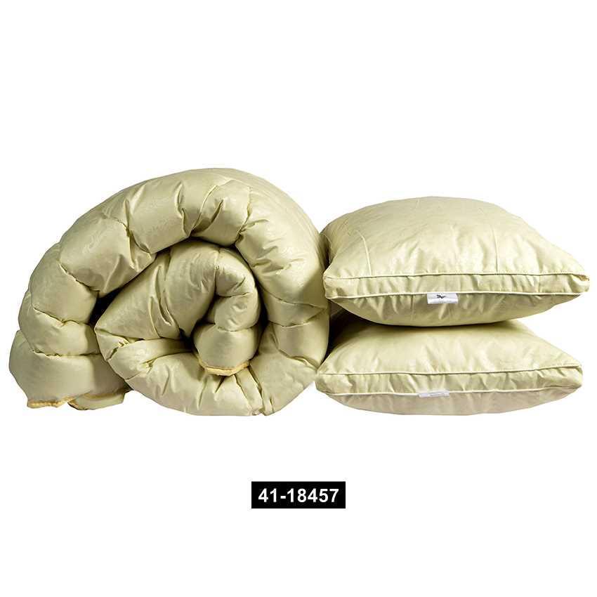 """Одеяло лебяжий пух """"Бежевое"""" 2-сп. + 2 подушки 70х70, 41-18457"""