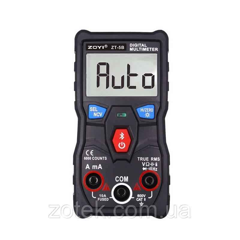 ZOYI ZT-5B Bluetooth Автоматический Защищённый мультиметр с термопарой ZOTEK