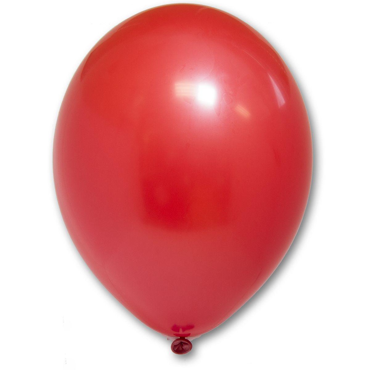 """Латексный шар без рисунка BELBAL 85/001 пастель Красный 10.5"""" 27 см"""