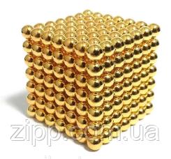 Головоломка Neo Cube Нео Куб Магнит 216 шариков 5мм золотой