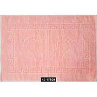 Полотенце махровое для ног розовое (Турция), 49-17809