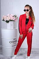 """Спортивний костюм підлітковий для дівчинки з топом """"Quality"""" 10-15 років, червоного кольору, фото 1"""