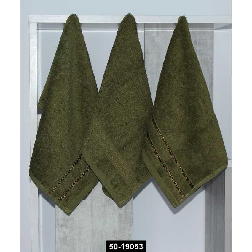 Набор полотенец 30х50 (3 шт) зелен., 50-19053
