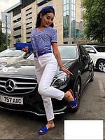 Костюм жіночий джинси і футболка великого розміру