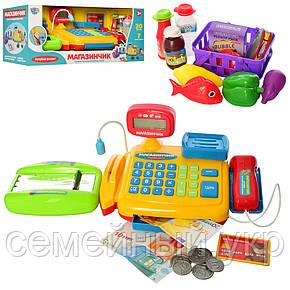 Игрушечный кассовый аппарат с микрофоном, калькулятор, весы LIMO TOY 7018, фото 2