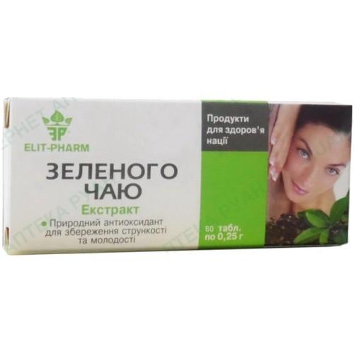 Экстракт зеленого чая для похудения 80 таблеток Элитфарм