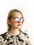 Круглые солнцезащитные очки   розово - голубые, фото 2
