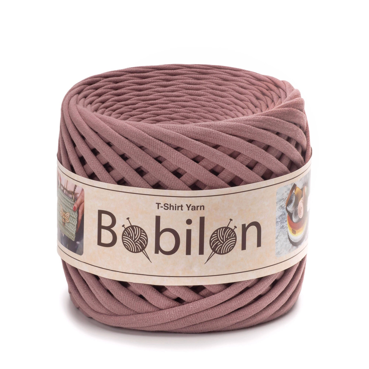 Трикотажная пряжа Bobilon Mini (5-7мм). Lilac Лиловый