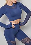 Топ  с длинным рукавом спортивный для занятий фитнесом и спортом М4388, фото 3