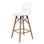 Friend (Френд) Concepto полубарный стул пластиковый белый