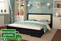 Кровать Регина с мягким изголовьем. Размеры в ассортименте., фото 1