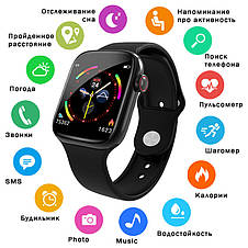 Фитнес-браслет Apl band W4,  HD full tuch screen, IP67 black, фото 2