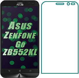 Защитное стекло Asus ZenFone Go ZB552KL (Прозрачное 2.5 D 9H) (Асус Зенфон Го Гоу)