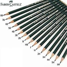 Чернографитные карандаши Castell 9000