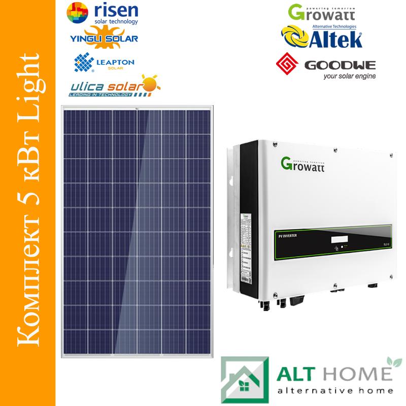 Сетевая солнечная станция 5 кВт Light
