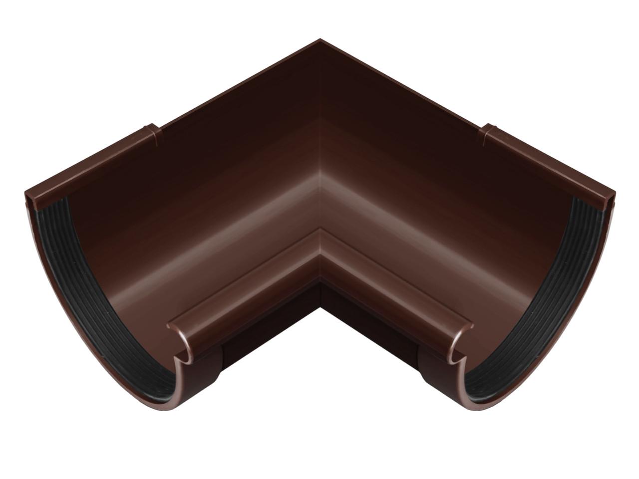 Угол желоба внутренний коричневый 90° 130/100 RainWay