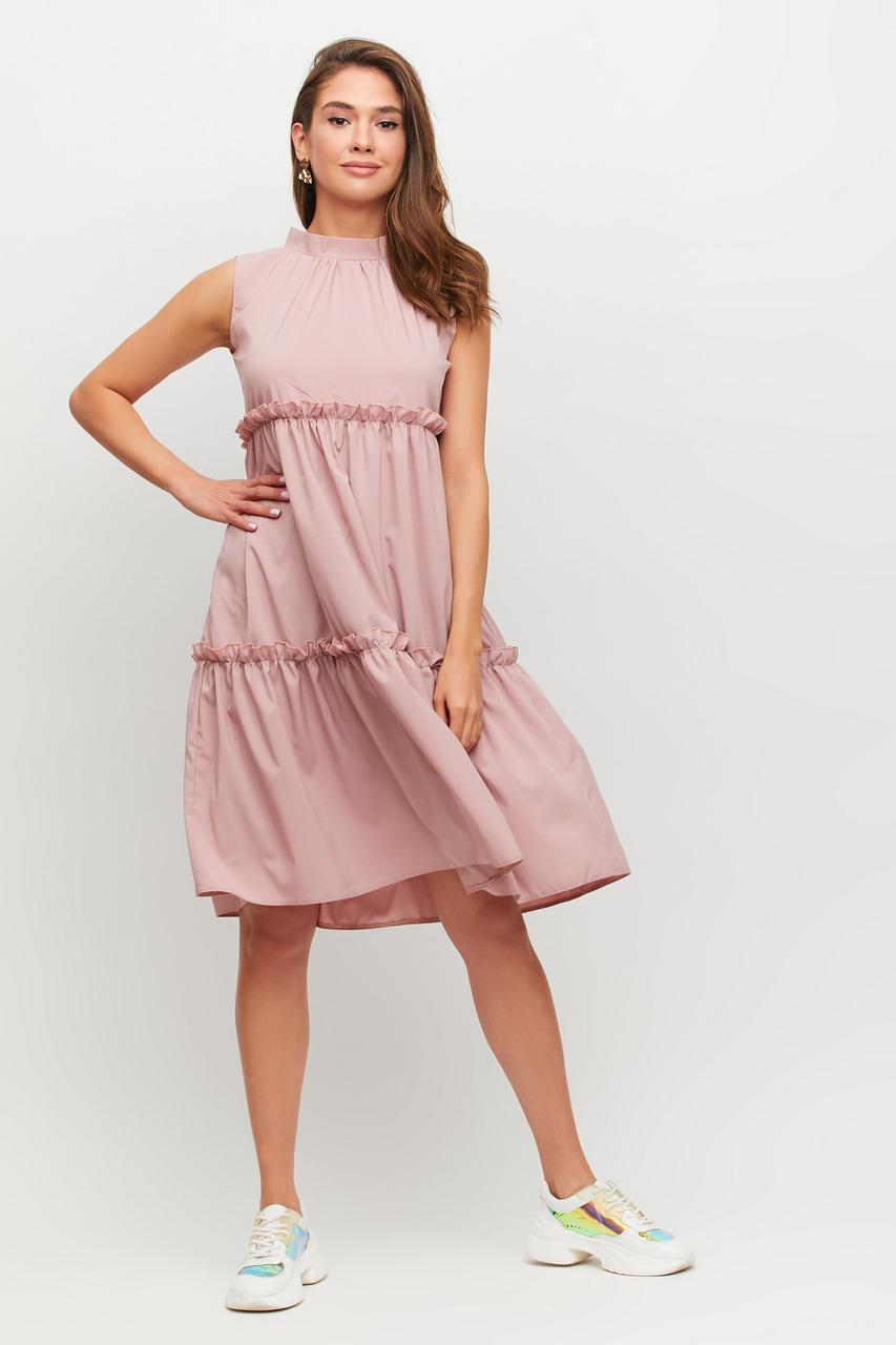 Женское платье розовое свободное