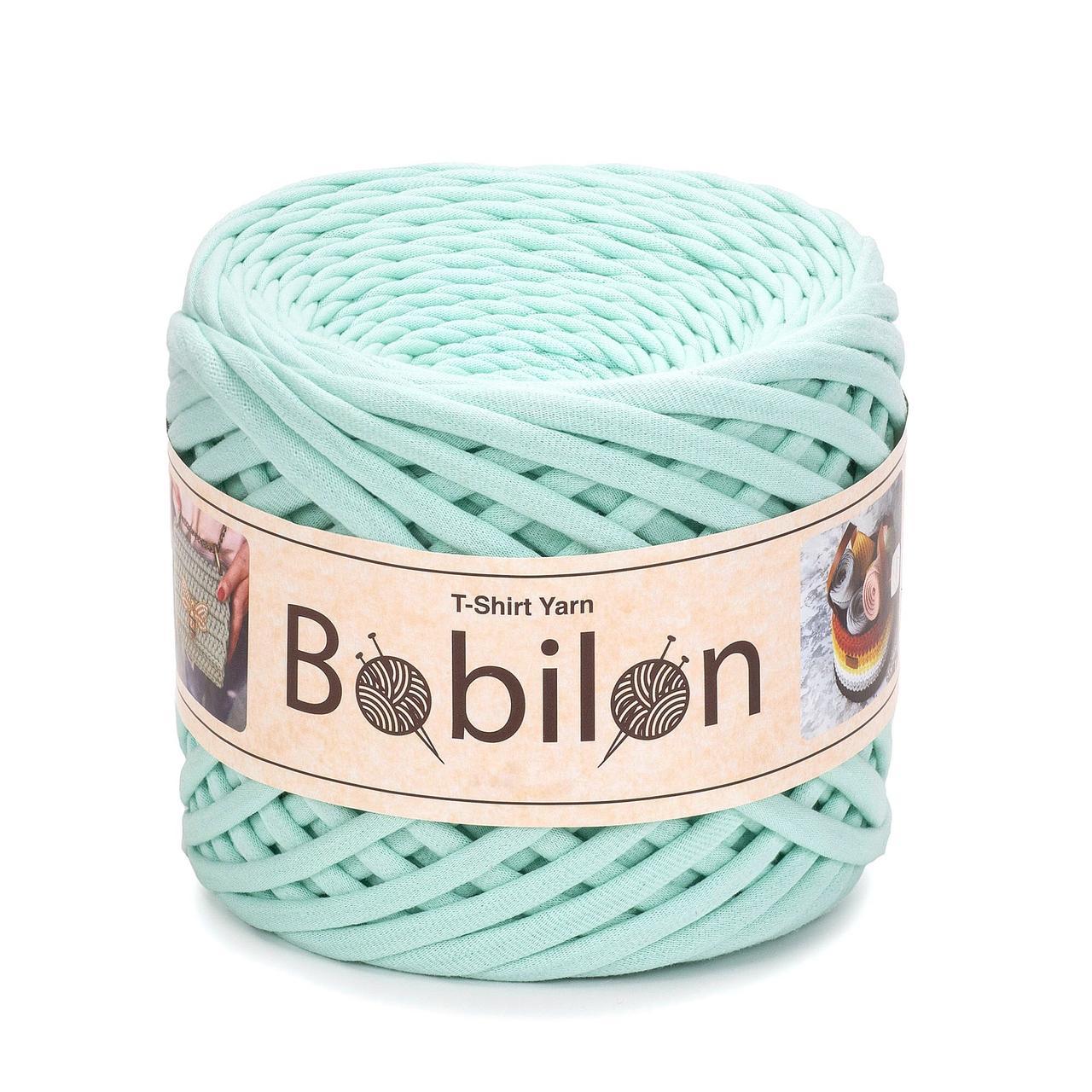 Пряжа трикотажна Bobilon Medium (7-9 мм) Mint Ментол